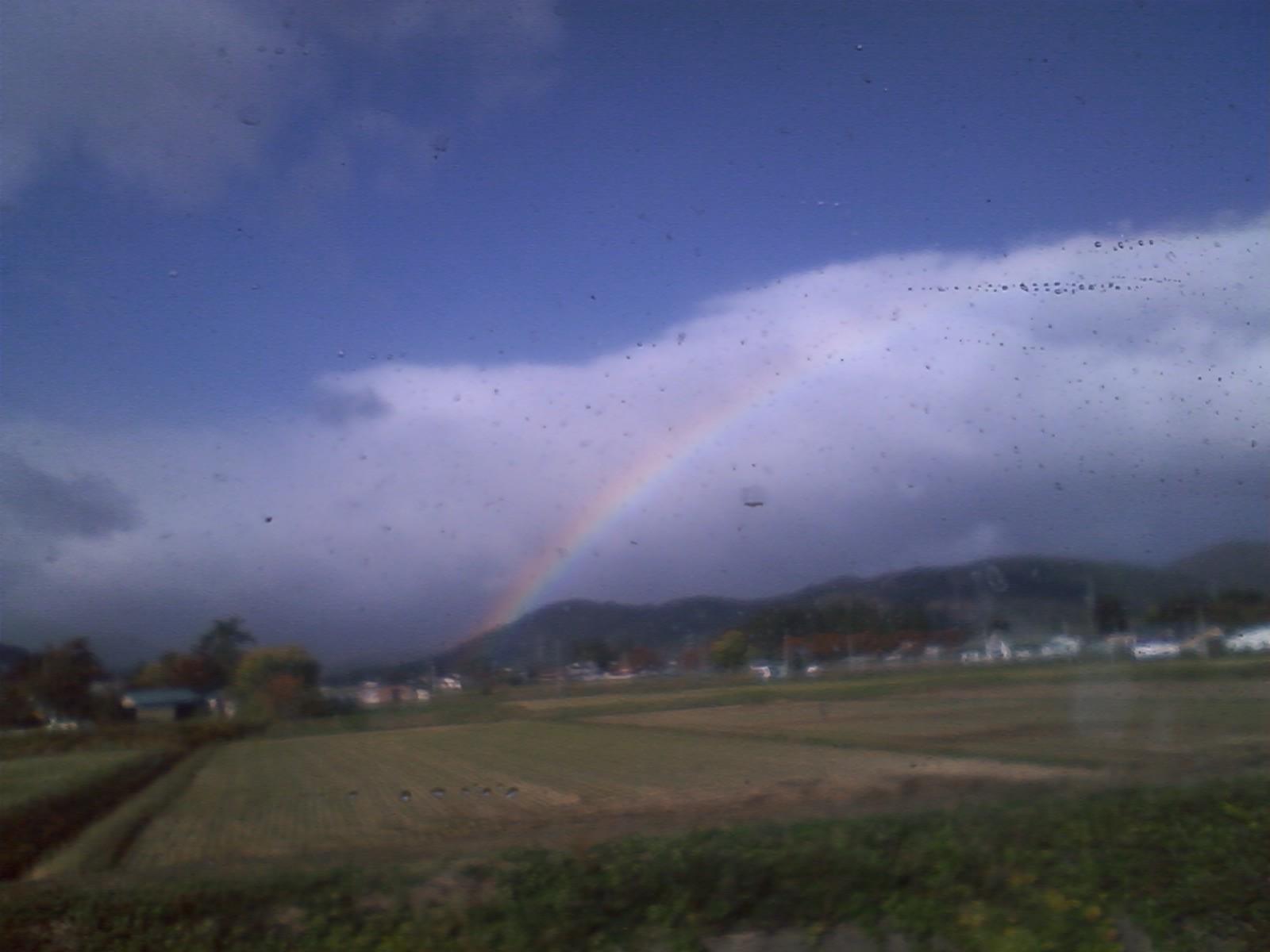 ?虹がかかった